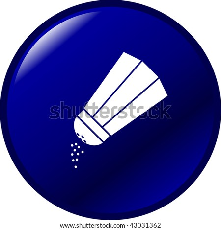 salt or pepper shaker button - stock photo