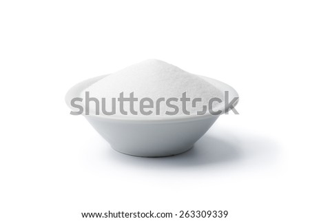 Salt or Sugar isolated on white background - stock photo