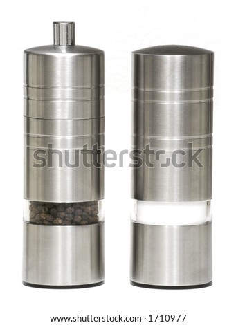 Salt & Pepper Shakers - Isolated - stock photo