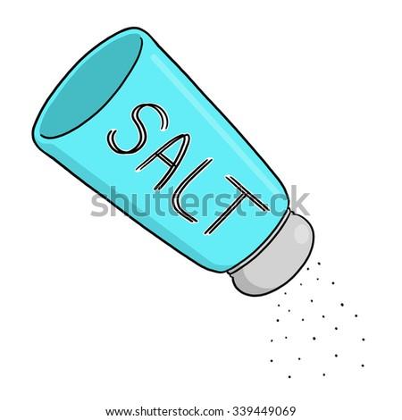 Salt shaker illustration - stock photo