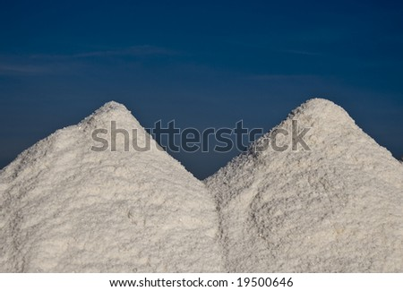 salt with blue sky