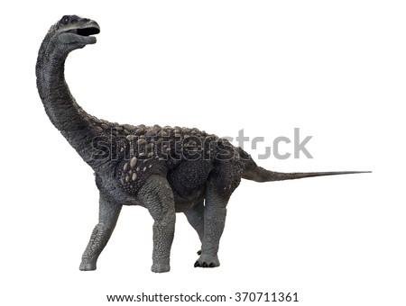 Saltasaurus 3D Render - stock photo