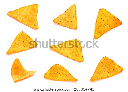 Salted corn snack with pepper isolated on white
