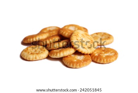 Salted crackers - stock photo