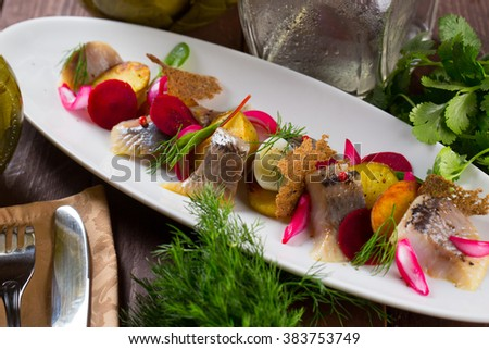 Salted Herring with Potatoes
