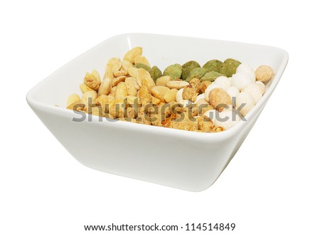 salted nuts - stock photo