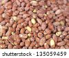 Salted peanut group background - stock photo