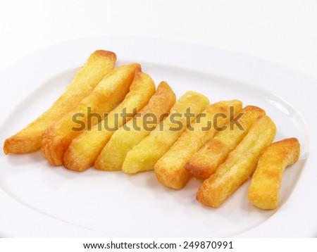 salted potato sticks - stock photo