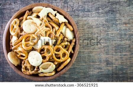 Salted pretzel snacks  - stock photo