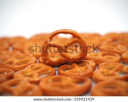 Salted pretzels - stock photo
