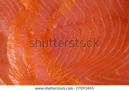 salted smoked sliced salmon, background