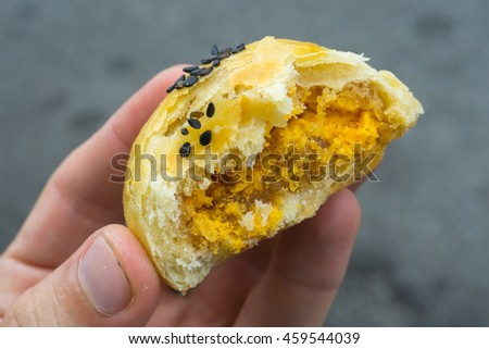 Salted Yolk Puff Pastry