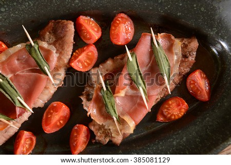 Saltimbocca with sage