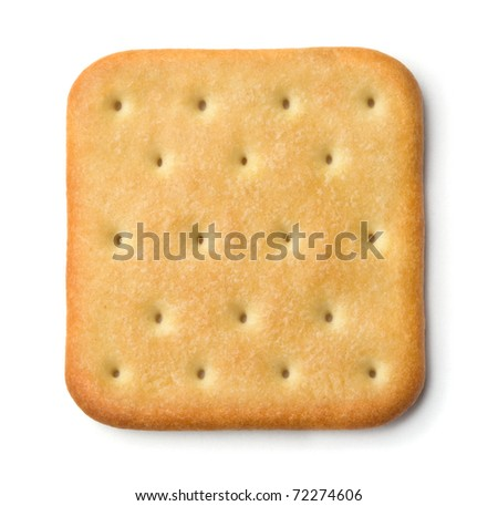 Saltine soda cracker isolated on white - stock photo