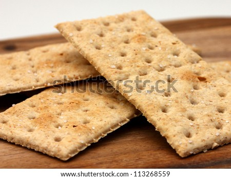 saltine wholemeal cracker biscuits