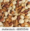 Salty nut mix - stock photo