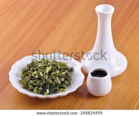 Salty ramsons (Allium ursinum) -tasty appetizer Siberian - stock photo