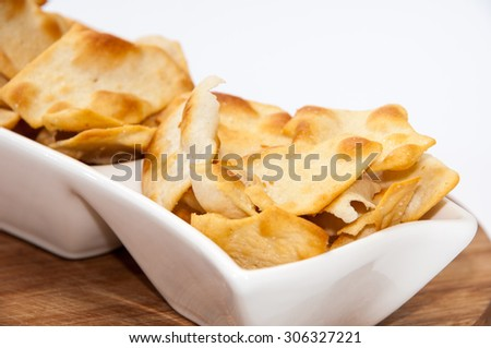 Salty snacks in a bowl.