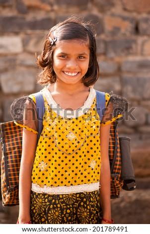 SALUNKWADI, MAHARASHTRA, INDIA - November 26, 2013: Indian rural people daily lifestyle, Salunkwadi, Beed , Maharashtra, India - stock photo