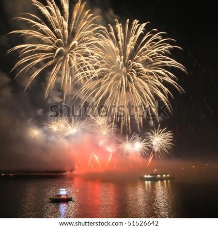 Salute, fireworks - stock photo