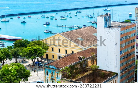 Salvador City in Bahia, Brazil - stock photo