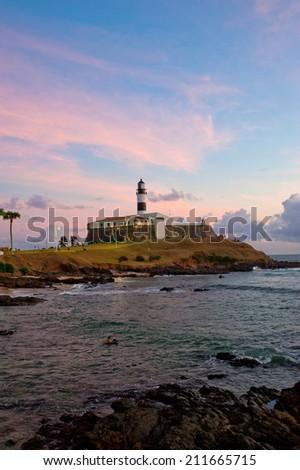 Salvador da Bahia, Brazil - Barra lighthouse . - stock photo