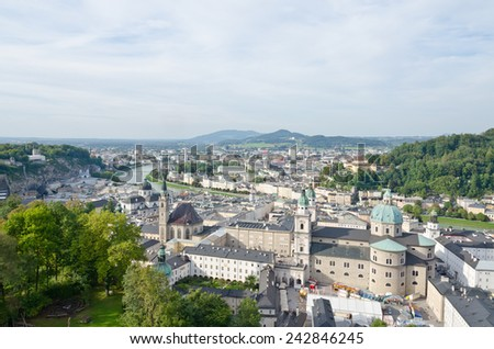 Salzburg. Cityscape of Slazburg town, Austria - stock photo