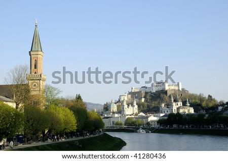 Salzburg wiew - stock photo