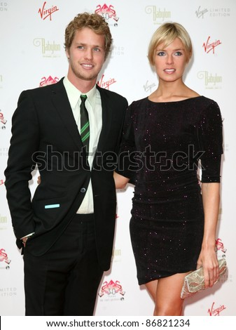 Sam Branson and Isabella Calthorpe arriving for The Roof Gardens - 30th Anniversary Party, Kensington Roof Gardens, west London. 06/06/2011  Picture by: Alexandra Glen / Featureflash