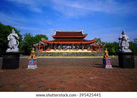 Sam ko Pong Temple Location Semarang  Central Java indonesia - stock photo