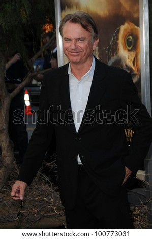 """Sam Neill at the """"Legend Of The Guardians"""" World Premiere, Chinese Theatre, Hollywood, CA. 09-19-10 - stock photo"""