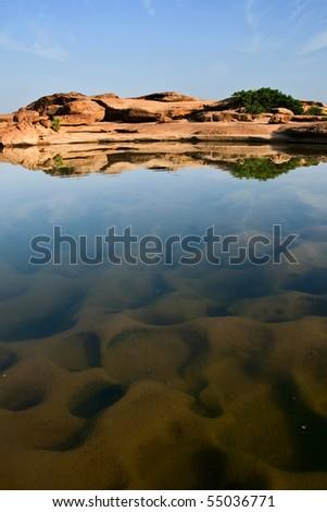 Sam panbok rock field, Grand canyon in Thailand - stock photo