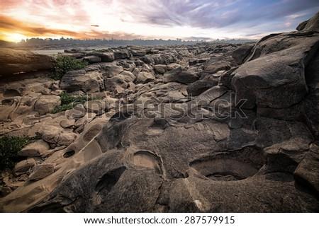 Sam Phan Bok - The Grand Canyon of Thailand - stock photo