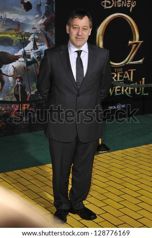 """Sam Raimi at the world premiere of his movie """"Oz: The Great and Powerful"""" at the El Capitan Theatre, Hollywood. February 13, 2013  Los Angeles, CA Picture: Paul Smith - stock photo"""