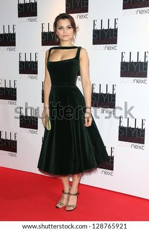 Samantha Barks at the Elle Style Awards 2013, at The Savoy, London. 11/02/2013 Henry Harris - stock photo