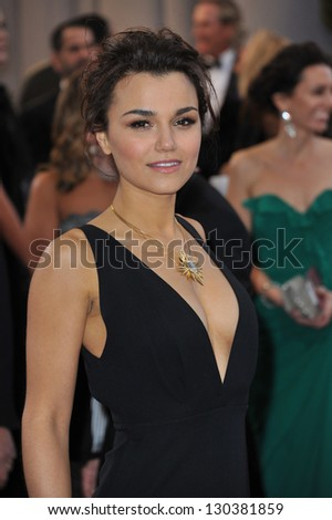Samantha Barks at the 85th Academy Awards at the Dolby Theatre, Hollywood. February 24, 2013  Los Angeles, CA Picture: Paul Smith