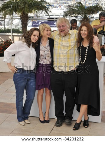 "Samantha Morton, Michelle Williams, Philip Seymour Hoffman & Catherine Keener at photocall for ""Synecdoche, New York"". 61st Annual Cannes Film Festival.  5-23-08  Cannes, France."