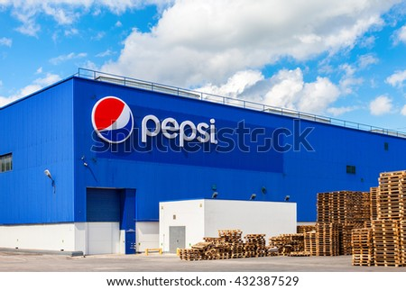 SAMARA, RUSSIA - MAY 22, 2016: Factory of Pepsi Corporation in Samara, Russia. PepsiCo Inc. is an American multinational food, snack and beverage corporation - stock photo