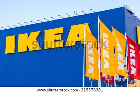 SAMARA, RUSSIA - SEPTEMBER 6, 2014: IKEA Samara Store. IKEA is the world's largest furniture retailer and sells ready to assemble furniture. Founded in Sweden in 1943 - stock photo