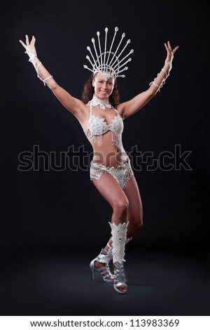 Samba Dancer in studio - stock photo