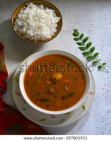sambhar lentil and vegetable stew