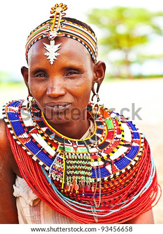 African Tribe Dance Of an african tribal lady,