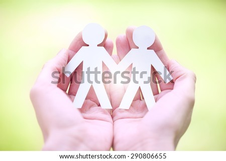 same-sex marriage, gay pride and love concept - stock photo