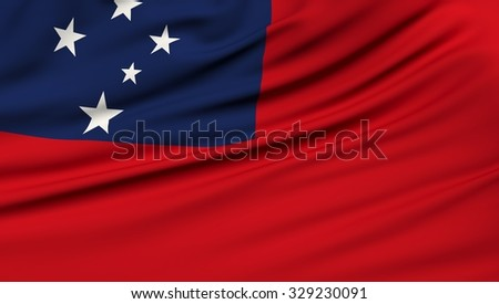 Samoa Flag. 3d illustration