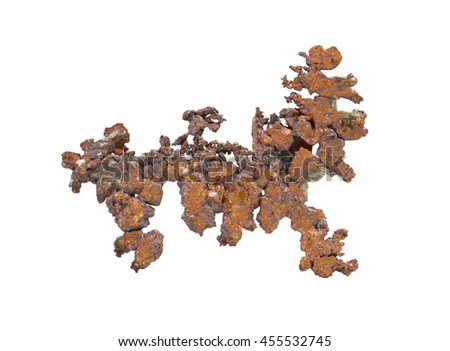 Sample copper isolated on white background