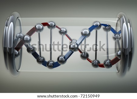 Sample DNA on background 3d abstract - stock photo