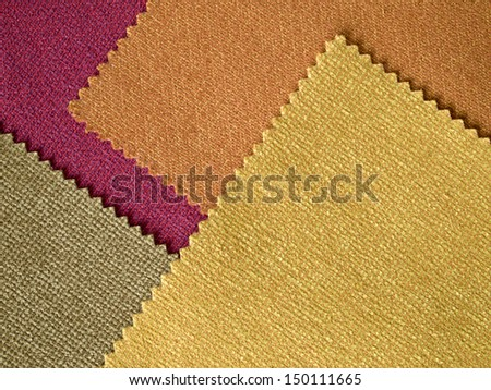 Sample Fabric Hot Tone Color Layer Texture for background - stock photo