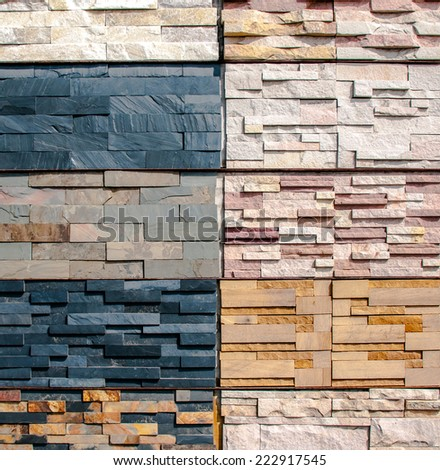 sample of ceramic tiles - texture wall interior exterior decoration background - stock photo