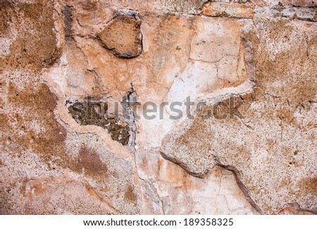 Sample of traditional Kievan Rus brickwork. Opus mixtum technique. Background or texture. - stock photo