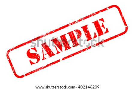 SAMPLE rubber stamp text on white background - stock photo